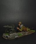 1-ый номер расчета пулемета Максим - Оловянный солдатик коллекционная роспись 54 мм. Все оловянные солдатики расписываются художником вручную