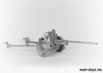 45 мм противотанковая пушка, обр. 1942 г. - Оловянная миниатюра. Чернение. 1/32 54 мм