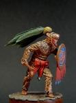 Aztec warrior - jaguar, XIV-XVI century - Оловянный солдатик, белый металл (набор для сборки из 9 деталей). Размер 54 мм (1:30).