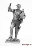Cен Сир, бригадный генерал, 1812 - Не крашенный оловянный солдатик. Высота 54 мм.