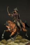 Hun Warrior 4 c. a. d. (набор для сборки) - Оловянная миниатюра, белый металл набор для сборки, 54 мм