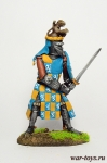 Jacques Louchard - французский рыцарь. 1350 г. - Оловянный солдатик коллекционная роспись 54 мм. Все оловянные солдатики расписываются художником в ручную
