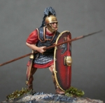 Roman Triarius - Оловянная миниатюра, белый металл набор для сборки, 54 мм