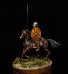 Roman warrior 4 c. a.d. (набор для сборки) - Оловянная миниатюра, белый металл набор для сборки, 54 мм