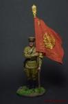 Ст. сержант погранвойск НКВД со знаменем 1939-43 СССР - Оловянный солдатик коллекционная роспись 54 мм. Все оловянные солдатики расписываются художником вручную