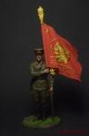 Ст. сержант погранвойск НКВД со знаменем 1939-43 СССР