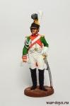 Ряд. 1-й роты Почетной королевской гвардии. Италия, 1811-12 гг - Оловянный солдатик, роспись 54 мм. Все оловянные солдатики расписываются художником в ручную