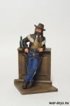 США. Буффало Билл 19 век - Оловянный солдатик коллекционная роспись 54 мм. Все оловянные солдатики расписываются художником в ручную