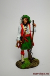 США. Оцеола, вождь семинолов 18 век - Оловянный солдатик коллекционная роспись 54 мм. Все оловянные солдатики расписываются художником вручную