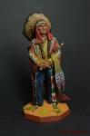 США. Вождь союза сиу Сидящий бык 19 век - Оловянный солдатик коллекционная роспись 54 мм. Все оловянные солдатики расписываются художником вручную