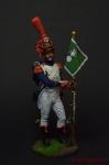 Серж. Караб. 8-го лёгкого плк. с ротным фаньоном Франция 1809-12