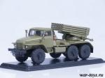 Урал-375 БМ-21 ГРАД (хаки)  1/43 - Масштабная коллекционная модель масштаб 1:43