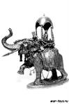 Индия. Свадебный кортеж на слоне