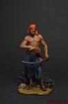 Пират. Буканьер - Оловянный солдатик коллекционная роспись 54 мм. Все оловянные солдатики расписываются художником вручную