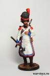 Сапёр 2-го пехотного полка. Берг, 1807-12 гг. - Оловянный солдатик коллекционная роспись 54 мм. Все оловянные солдатики расписываются художником в ручную