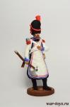 Сапер 2-го пехотного полка. Берг, 1807-12 гг. - Оловянный солдатик, роспись 54 мм. Все оловянные солдатики расписываются художником в ручную