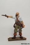 Пират - Оловянный солдатик коллекционная роспись 54 мм. Все оловянные солдатики расписываются художником в ручную