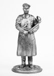 Повар - Не крашенный оловянный солдатик. Высота 54 мм.