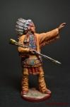 Вождь - Оловянный солдатик коллекционная роспись 54 мм. Все оловянные солдатики расписываются художником вручную
