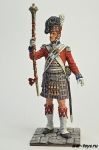 Англия. Тамбумажор 92 шотландского полка 1815 год