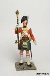 Англия. Тамбумажор 92 шотландского полка 1815 год - Оловянный солдатик коллекционная роспись 54 мм. Все оловянные солдатики расписываются художником в ручную