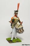 Россия. Барабанщик линейно пехоты 1812 год - Оловянный солдатик коллекционная роспись 54 мм. Все оловянные солдатики расписываются художником в ручную