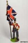 Англия. Знаменосец линейной пехоты Начало 19 века - Оловянный солдатик коллекционная роспись 54 мм. Все оловянные солдатики расписываются художником в ручную