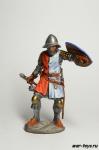 Италия. Рыцарь из Тосканы 13 век - Оловянный солдатик коллекционная роспись 54 мм. Все оловянные солдатики расписываются художником в ручную
