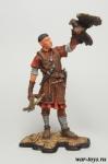Англия. Норманн с соколом 12 век - Оловянный солдатик коллекционная роспись 54 мм. Все оловянные солдатики расписываются художником в ручную