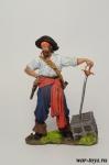 Пираты. Флибустьер 17 век - Оловянный солдатик коллекционная роспись 54 мм. Все оловянные солдатики расписываются художником в ручную