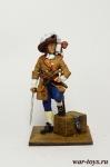 Пираты. Флибустьер с добычей 17 век - Оловянный солдатик коллекционная роспись 54 мм. Все оловянные солдатики расписываются художником в ручную