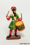Гренад. барабанщик л-гвардии Преображенского плк. 1712 - Оловянный солдатик, роспись 54 мм. Все оловянные солдатики расписываются художником в ручную