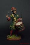 Гренад. барабанщик л-гвардии Преображенского плк. 1712 - Оловянный солдатик коллекционная роспись 54 мм. Все оловянные солдатики расписываются художником вручную
