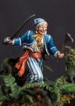 Пират, 1-я половина 18 века - Оловянный солдатик, белый металл (набор для сборки из 10 деталей). Размер 54 мм (1:30).