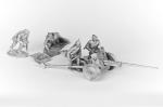 Расчет 45 мм пушки (4 фигурки + пушка), 1942-1945 - Набор оловянных солдатиков 5 шт. 54 мм