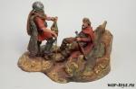 Трофей - Оловянный солдатик коллекционная роспись 54 мм. Все оловянные солдатики расписываются художником в ручную