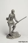Индеец - Оловянный солдатик. Чернение. Высота солдатика 54 мм