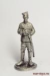 Чапаев - Оловянный солдатик. Чернение. Высота солдатика 54 мм