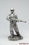 Бандит - Не крашенный оловянный солдатик. Высота 54 мм.