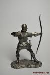 Лучник - Не крашенный оловянный солдатик. Высота 54 мм.