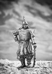 Монгол - Не крашенный оловянный солдатик. Высота 54 мм.