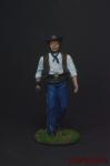 Ковбой - Оловянный солдатик коллекционная роспись 54 мм. Все оловянные солдатики расписываются художником вручную