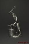 КУЗНЕЦ - Оловянный солдатик. Чернение. Высота солдатика 54 мм
