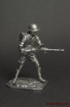 Солдат 8-ой Британской армии,Африка,1941-42 гг,стреляет из пулем