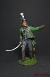 Офицер 95-го стрелкового полка. Великобритания, 1810-15 - Оловянный солдатик, роспись 54 мм. Все оловянные солдатики расписываются художником вручную