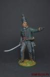 Офицер 95-го стрелкового полка. Великобритания, 1810-15 - Оловянный солдатик коллекционная роспись 54 мм. Все оловянные солдатики расписываются художником вручную