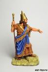 Саргон II, царь Ассирии, 722-705 до н.э. - Оловянный солдатик коллекционная роспись 54 мм. Все оловянные солдатики расписываются художником в ручную
