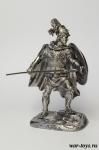 Леонид I царь Спарты - Оловянный солдатик. Чернение. Высота солдатика 54 мм