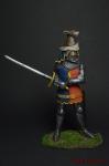 Рыцарь Sir John De Foxley, 1378 г. - Оловянный солдатик коллекционная роспись 54 мм. Все оловянные солдатики расписываются художником вручную
