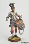 Англия. Барабанщик шотландского пехоты Начало 19 века